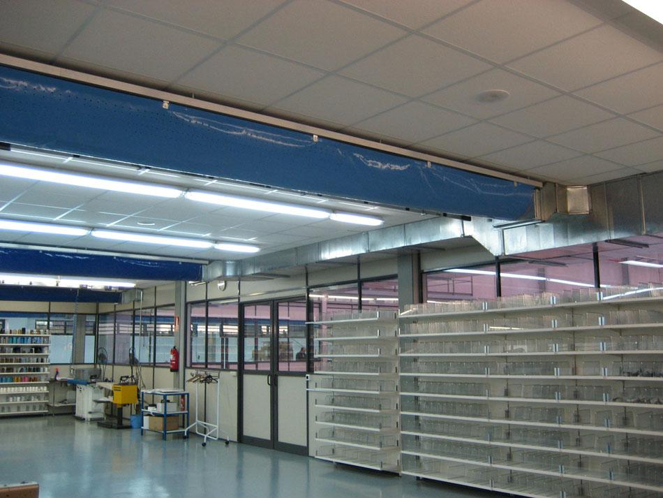 Climatización taller textil